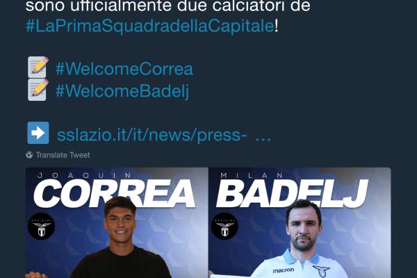 Joaquin Correa and Milan Badelj