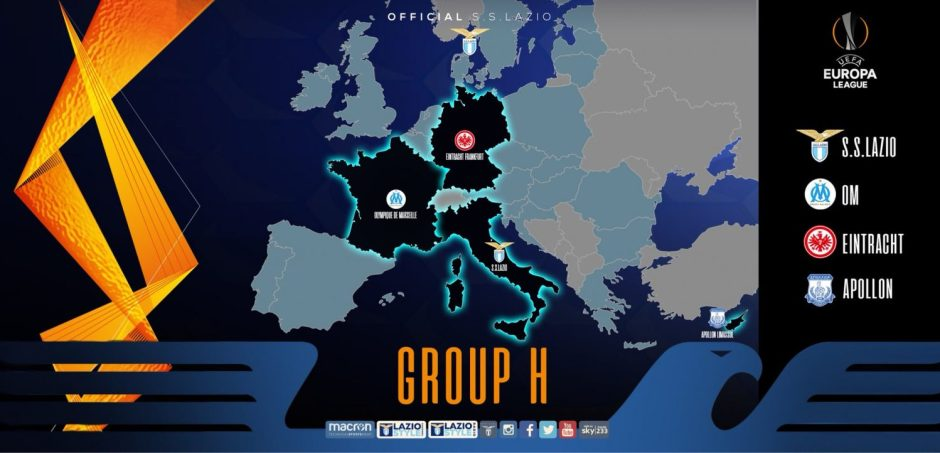 UEFA Europe League Group H, Source- Official S.S.Lazio and UEFA