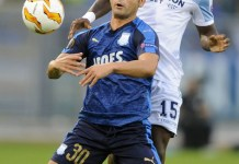 Bastos in Europa League action against Apollon Limassol, Source- zimbio.com