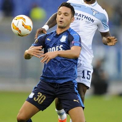 Bastos in Europa League action against Apollon Limassol, Source- zimbio.com