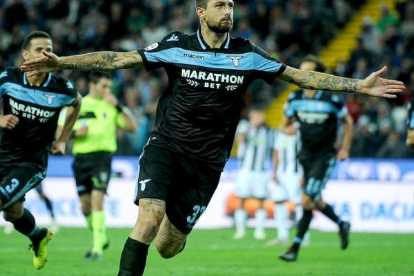 Francesco Acerbi celebrates his first goal in the biancocelesti jersey, Source- Official S.S.Lazio