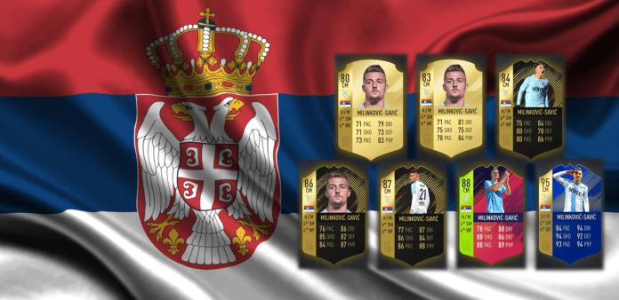 Sergej Milinkovic-Savic FIFA 18 Cards, Designed by Steven Moore