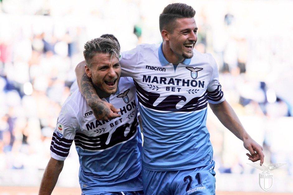 Ciro Immobile and Sergej Milinkovic-Savic, Source: Official S.S.Lazio
