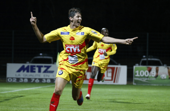 Emiliano Sala playing for US Orleans, Source- archive.li