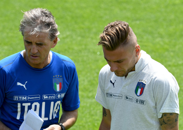 Roberto Mancini and Ciro Immobile, Source- Getty Images