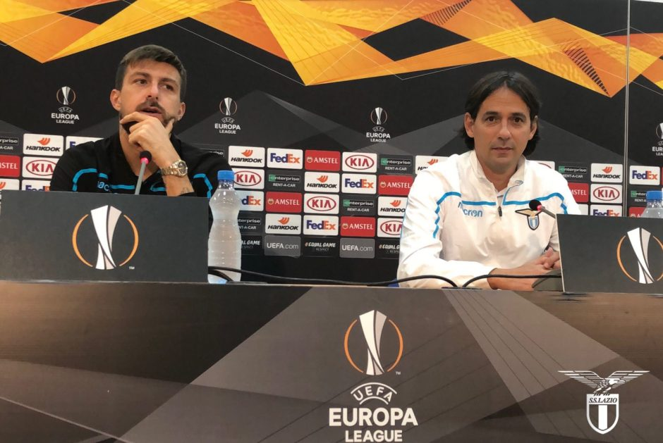 Simone Inzaghi and Francesco Acerbi, Source- Official S.S.Lazio