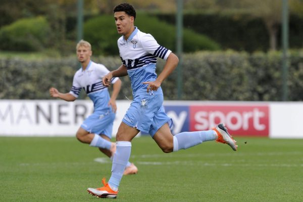 ROME, ITALY - NOVEMBER 03: Luan Capanni of SS Lazio in action during the Serie A Primavera match between SS Lazio U19 and Crotone U19 at on November 3, 2018 in Rome, Italy. (Photo by Marco Rosi/Getty Images)