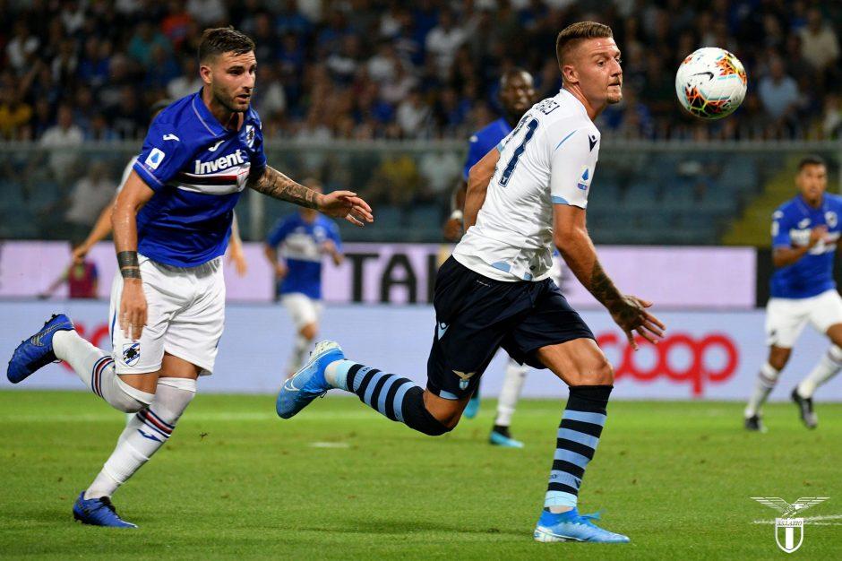 Sergej Milinkovic-Savic for Lazio in Sampdoria vs Lazio - Source - Official SS Lazio