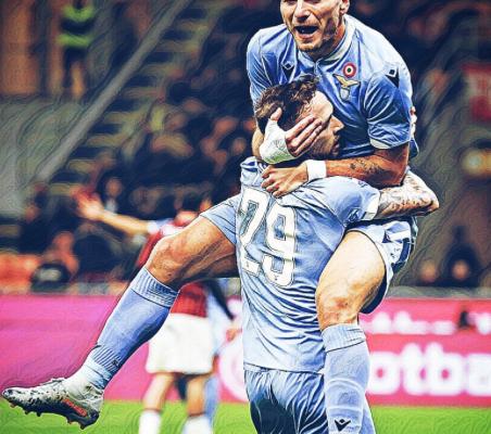 Ciro Immobile and Manuel Lazzari, Source- Official S.S. Lazio