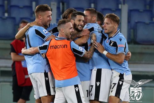 Lazio Celebrating Luis Alberto's Goal Against Fiorentina in the 2019/20 Serie A, Source- Official S.S. Lazio