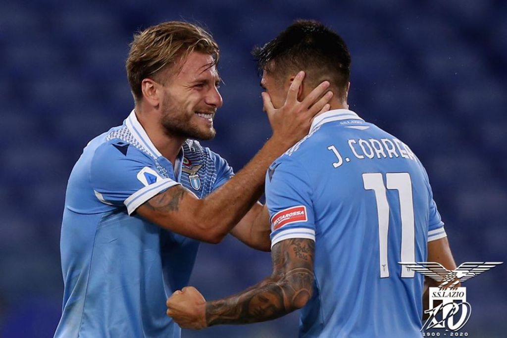 2019/20 Serie A, Lazio vs Brescia, Ciro Immobile and Joaquin Correa, Source- Official S.S. Lazio