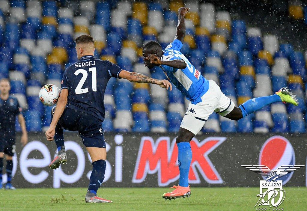 2019/20 Serie A - Matchday 38 - Napoli vs Lazio - Sergej Milinkovic-Savic and Kalidou Koulibaly, Source- Official S.S. Lazio