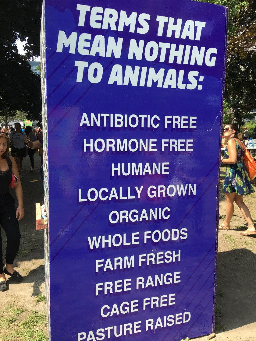 photo of vegan sign