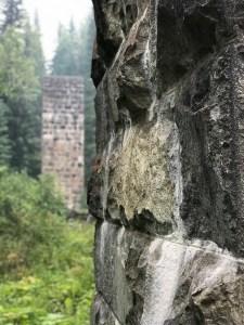 photo of abandoned stone train tressel