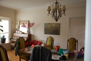 photo of messy dining room