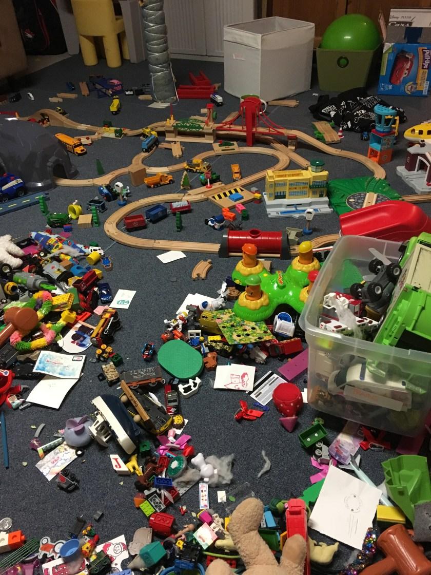 toys on the floor