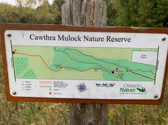 map of Cawthra Mulock nature reserve