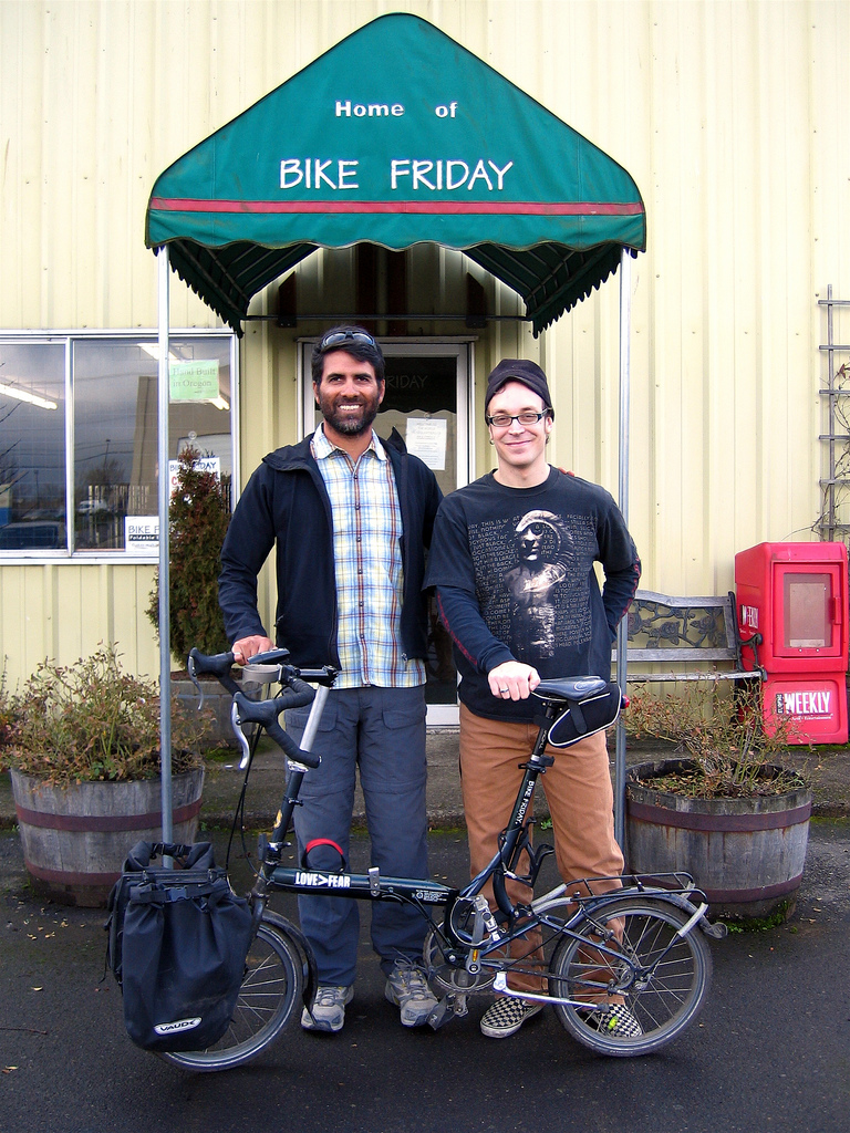 I finally meet Walter in person at Bike Friday HQ