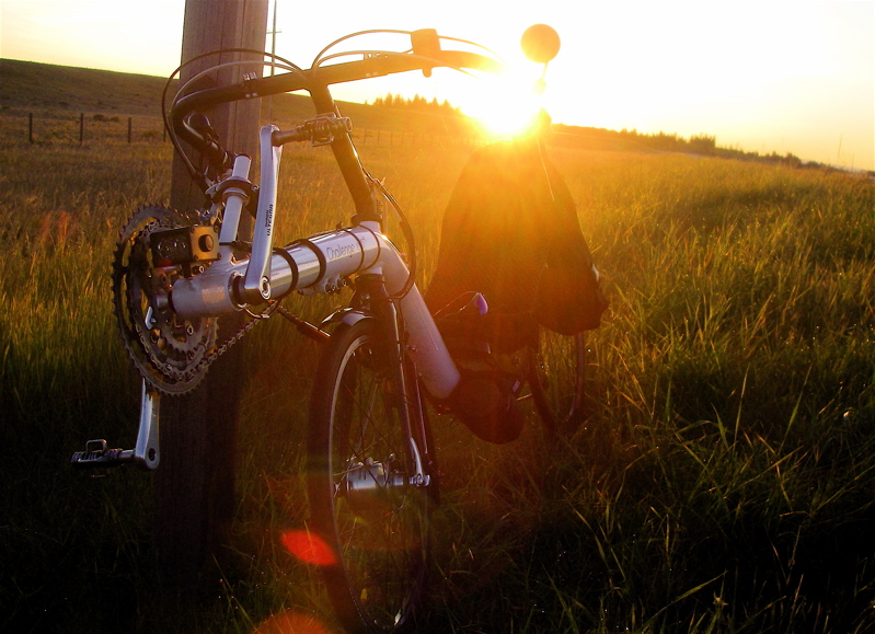 Sunrise in the mountains on a brevet....