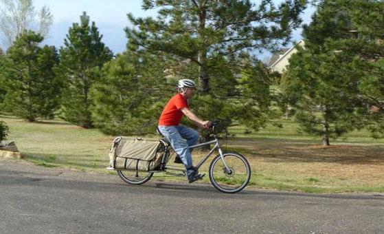 RANS' crank forward cargo bike in action.