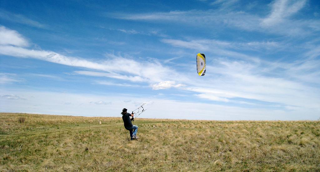 Kite flying @ Nosehill Park