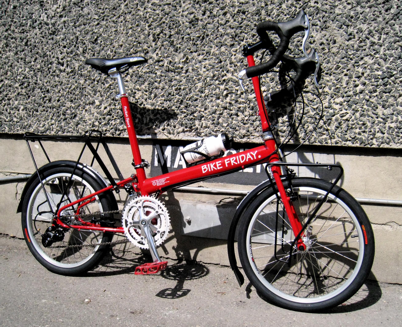Amy's new Bike Friday Pocket Sport