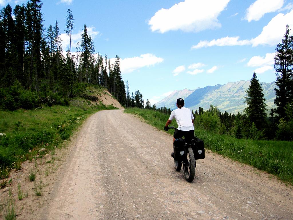 Kurt hammering his way towards Elk Pass...