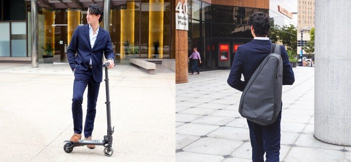 MiniFalcon cool gadget ultra-compact foldable e-scooter
