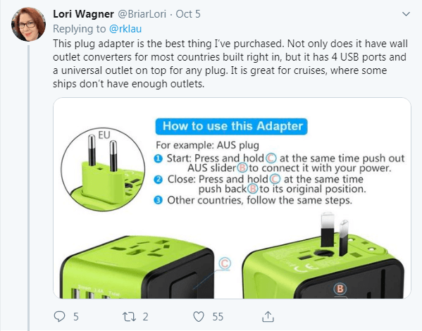 bring international adapter to make it easier