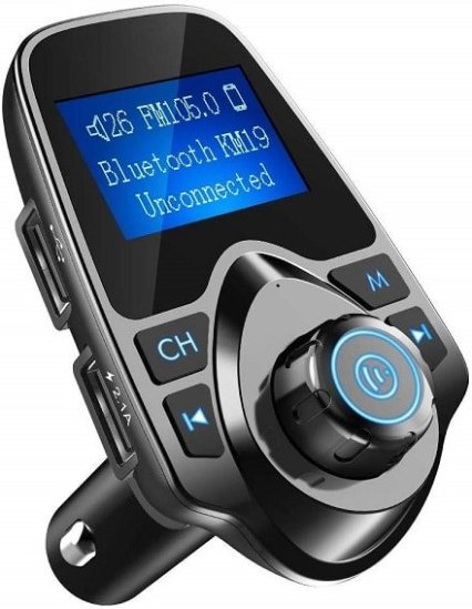 Nulaxy Bluetooth Car FM Transmitter Audio Adapter is a cool gadget for road trip