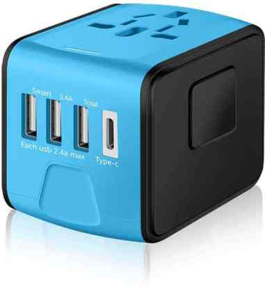 SAUNORCH Universal International Travel Power Adapter lazy Christmas gift