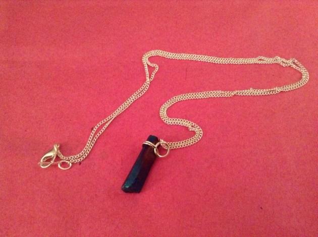 aura titanium quartz necklace