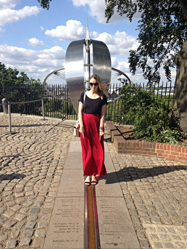 Standing on the Meridian Line Greenwich