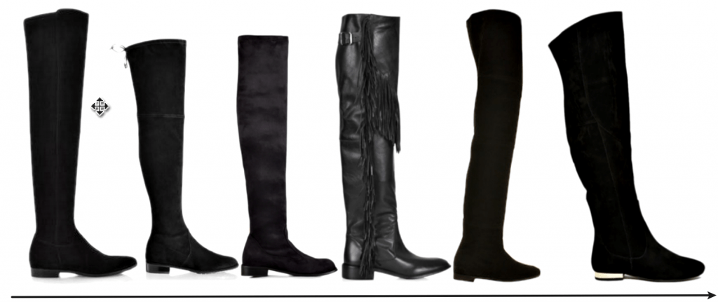Over The Knee Boots Flat High Street Picks AW15