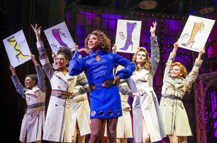 Matt Henry (Lola) and Angels in Kinky Boots - photo Matt Crocket