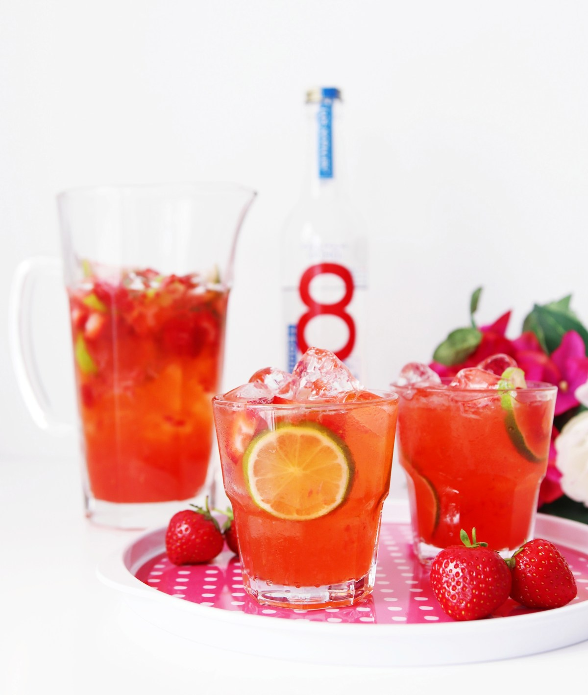 Strawberry Tequila Refresher Cocktail - Tequila Cocktail Recipe