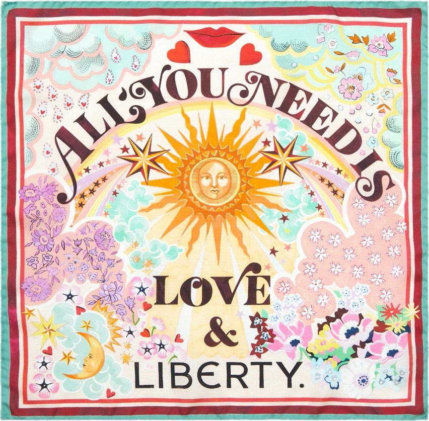 All You Need is Love Scarf Liberty