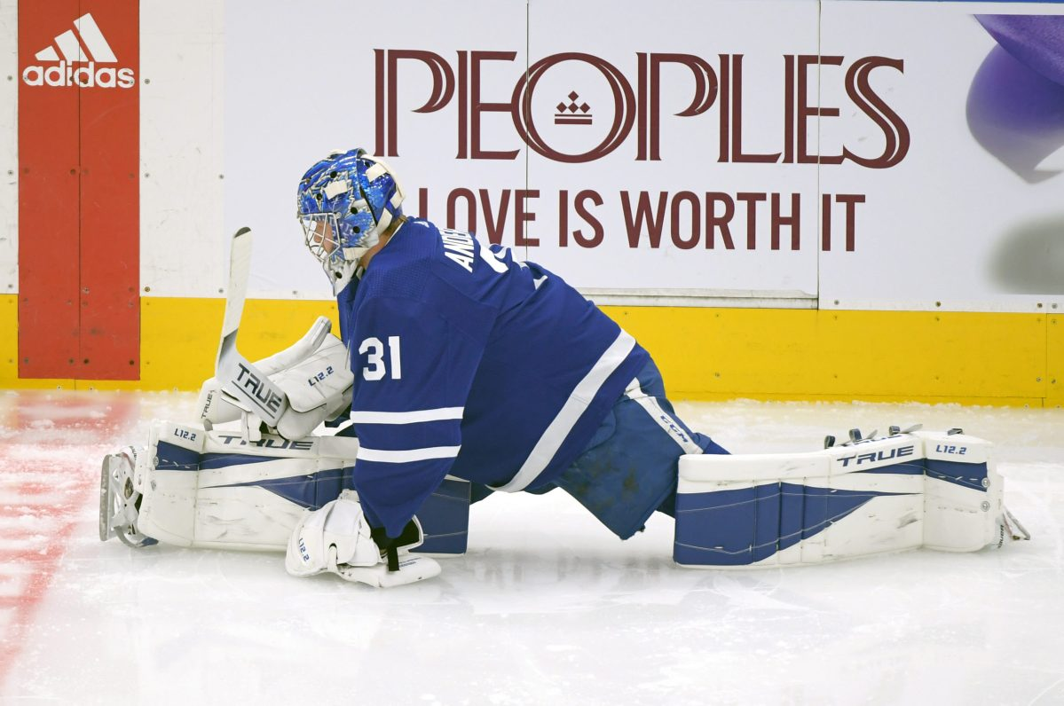 Frederik Andersen makes 12 saves on 14 shots in Marlies debut