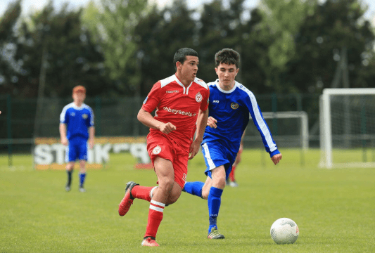 Striker Ali Reghba Shelbourne FC