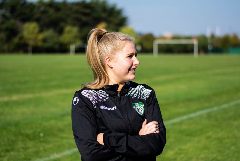Cabinteely coach Isabelle Connolly