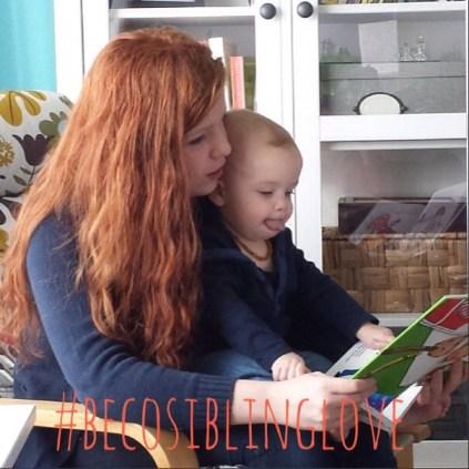 #BecoSiblingLove Big sister reading copy