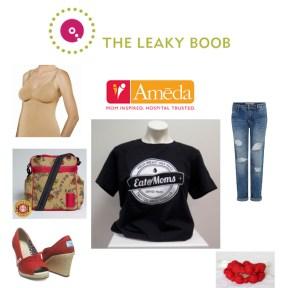 Ameda nursing tank, Eat@Moms shirt, Tom's High Heel Shoes, Vintage Honey Nursing Necklace,