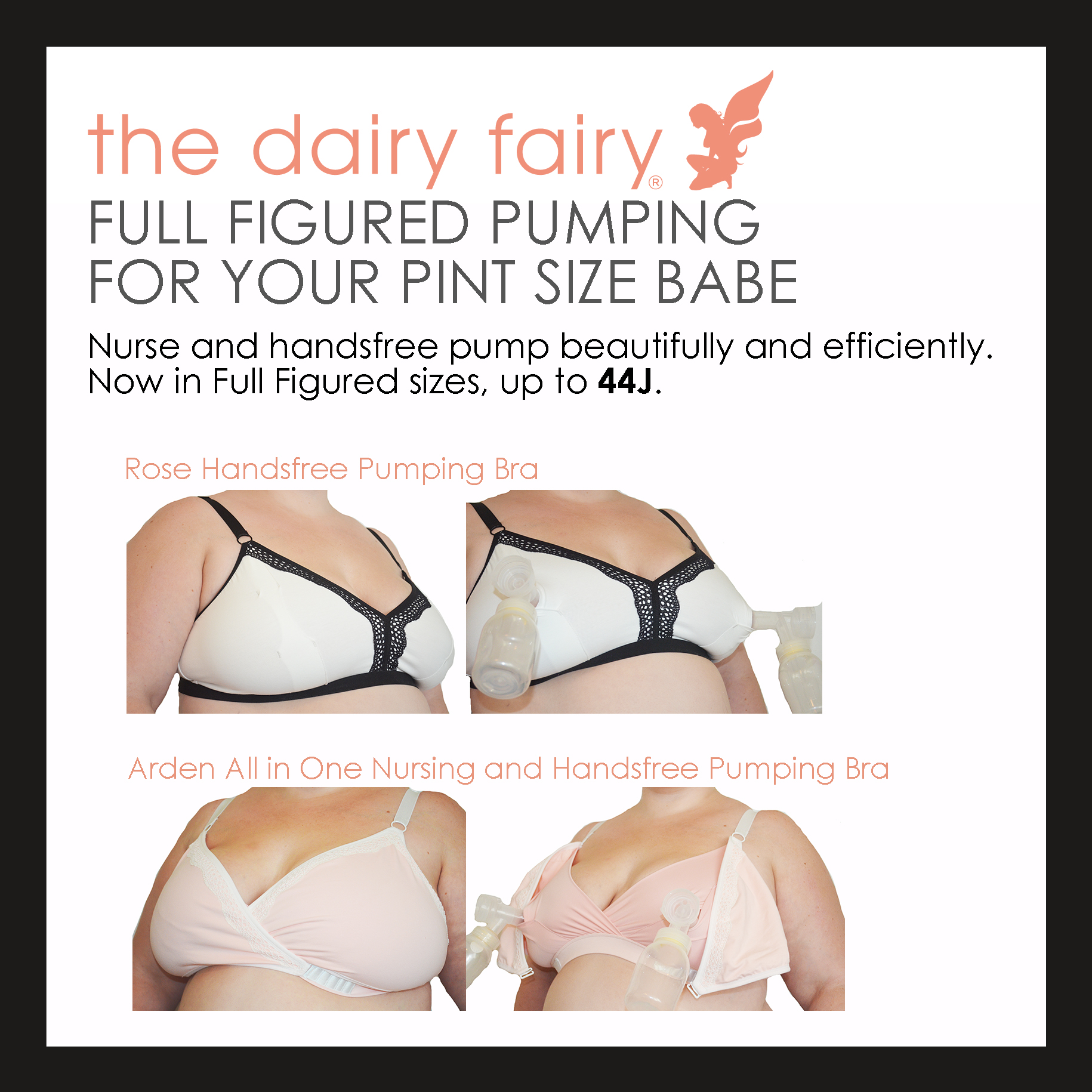 93ba21916ef61 The Dairy Fairy Arden and Rose Nursing/Pumping Bras for Curvy Moms ...