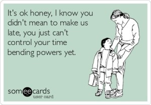 Parenting time late with kids