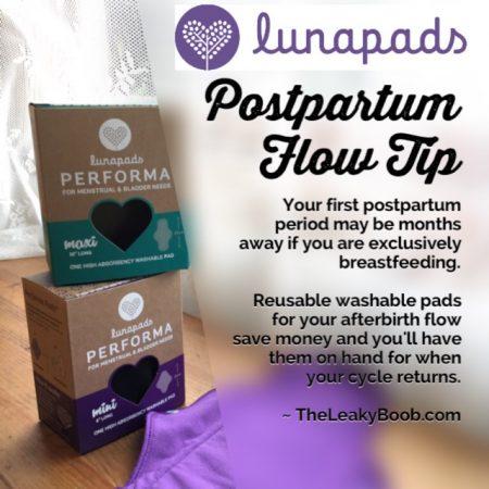 Cloth pad for postpartum bleeding