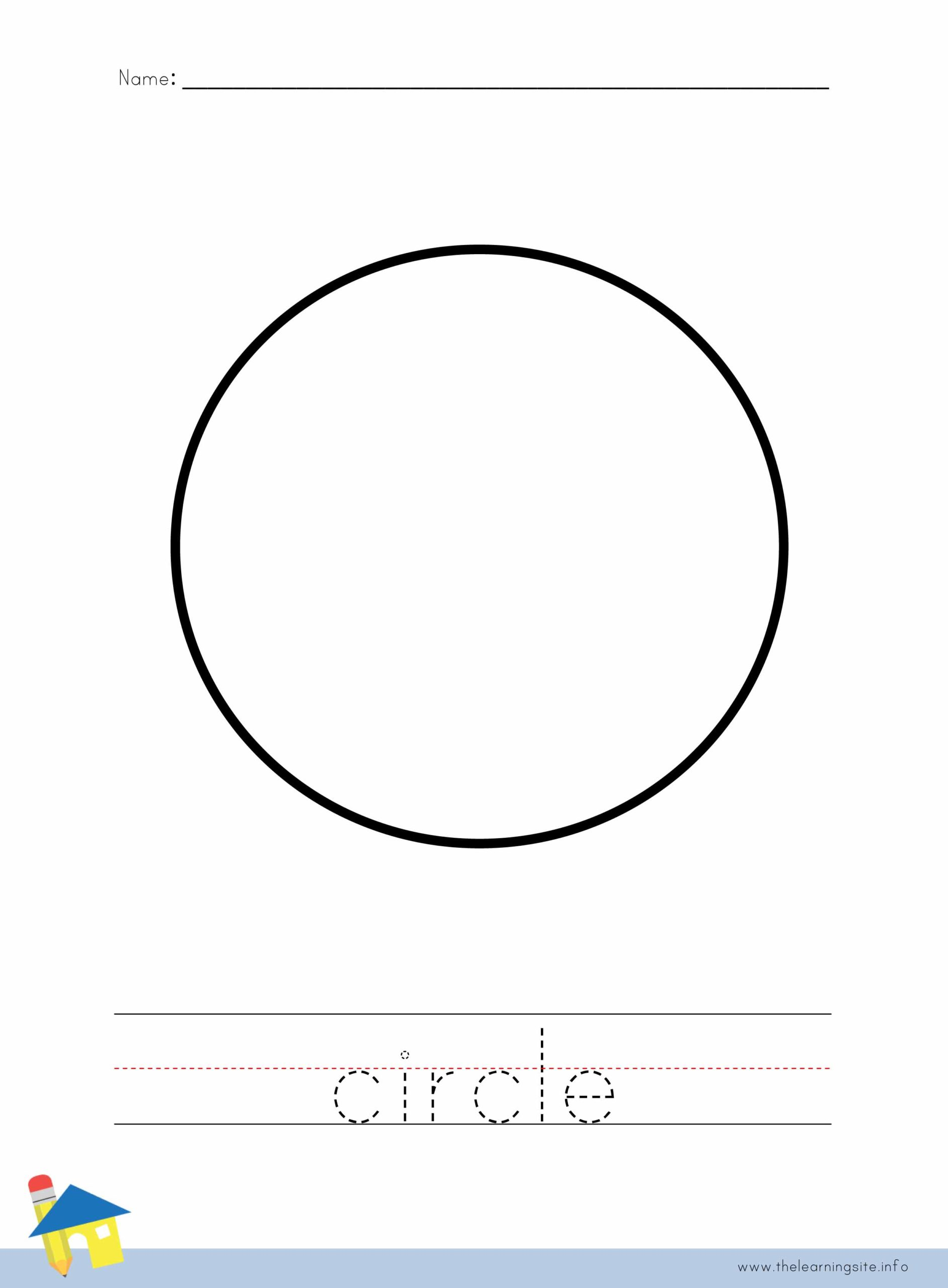 Circle Coloring Worksheet The Learning Site