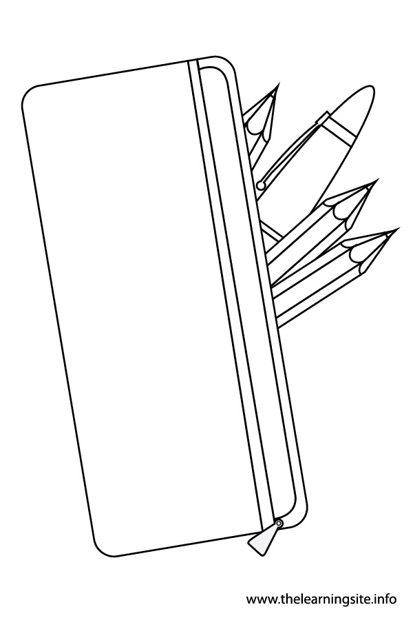 pencil case colouring pages
