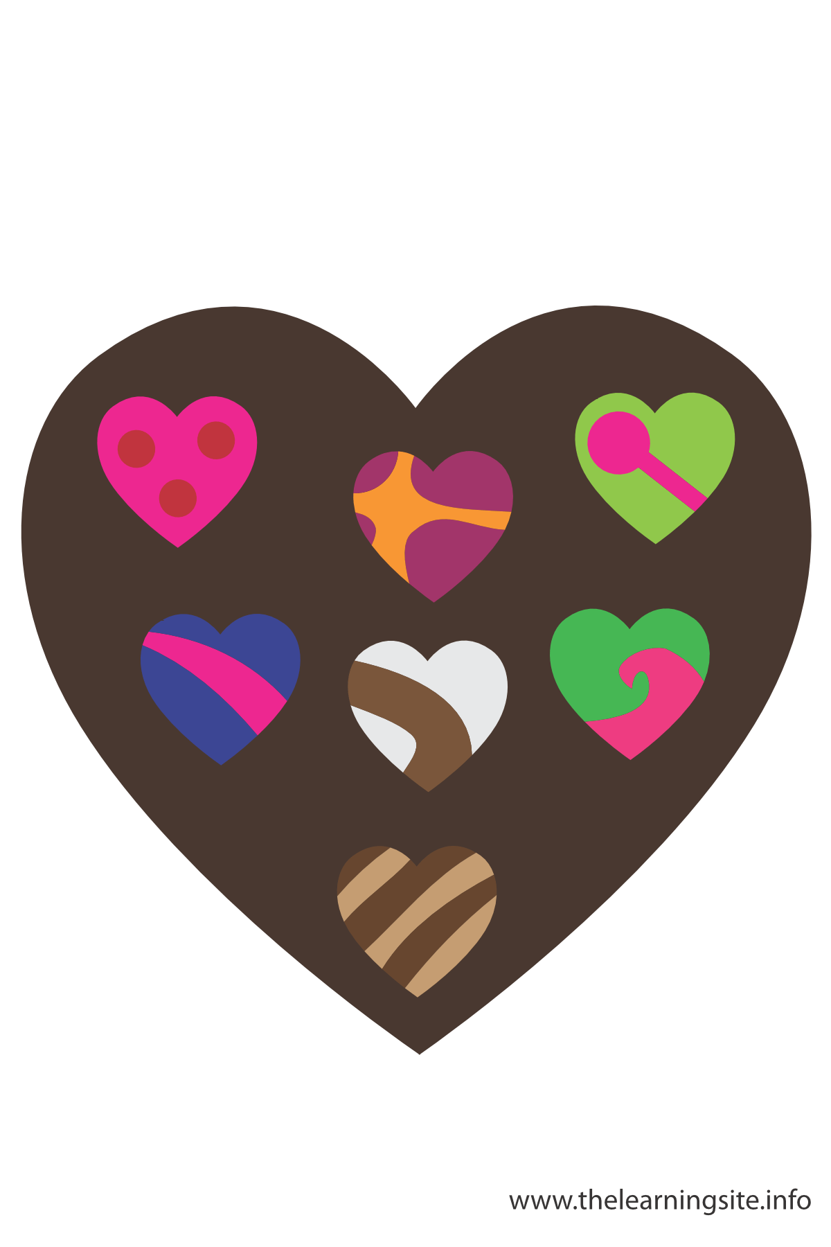 Chocolate Candy Hearts Flashcard The Learning Site