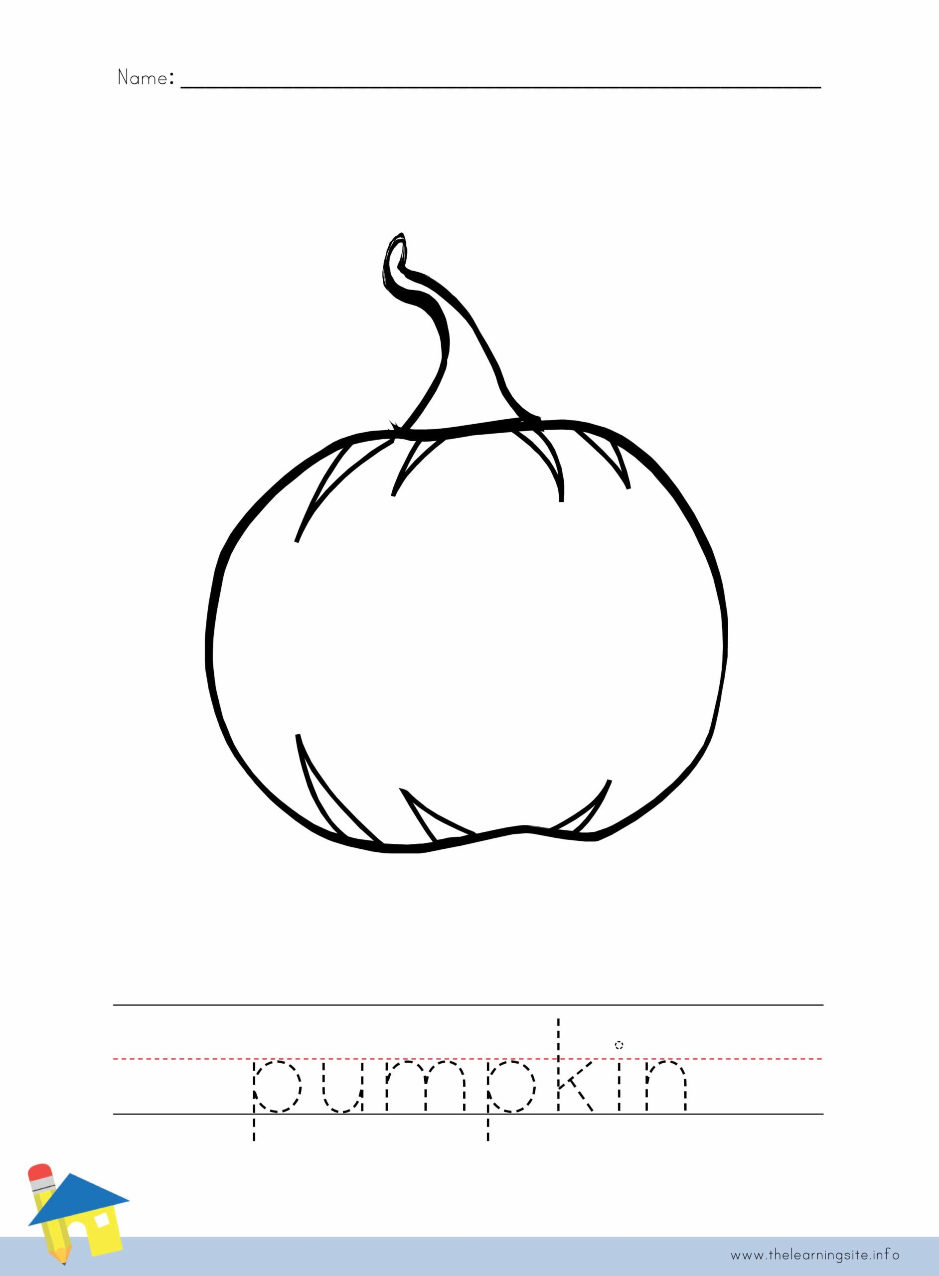 Pumpkin Coloring Worksheet The Learning Site