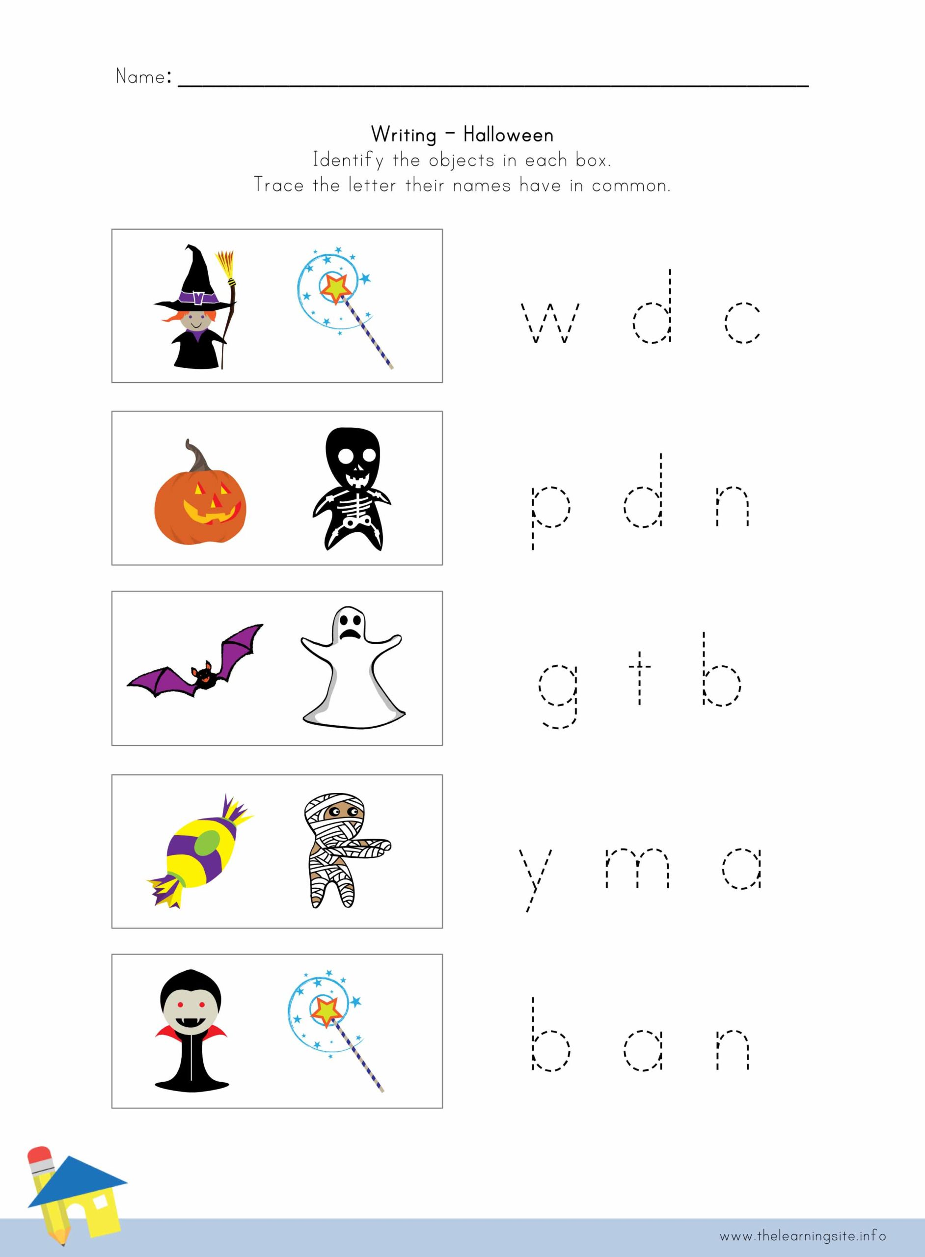 Halloween Writing Worksheet 4 The Learning Site